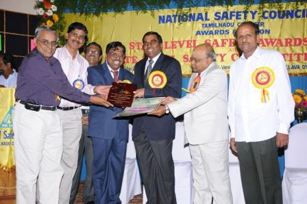 National Safety Council, Tamil Nadu Chapter's Award of Honour for 2007